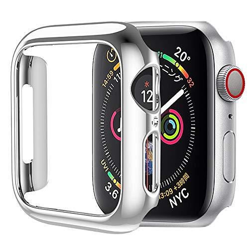 HOCO コンパチブル Apple Watch4 ケース アップルウォッチ4 カバー 40mm メッキ PC素材 軽量超簿 耐衝撃性 脱着簡単 Apple Watch 保護ケース Apple Watch Series 4に対応 (40mm/シルバー)