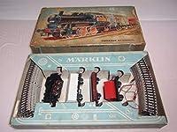 1960年代 共箱付 西ドイツ製HO メルクリン(MARKLIN) 3200 機関車(89 029)+貨車(3両) 曲線レール12本