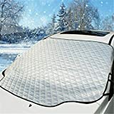 Windshield Snow Cover, Car Windshield Snow Ice Cover Magnets, 4 Layers Thick Windshield Protector from Snow Ice Frost Sun, Fi