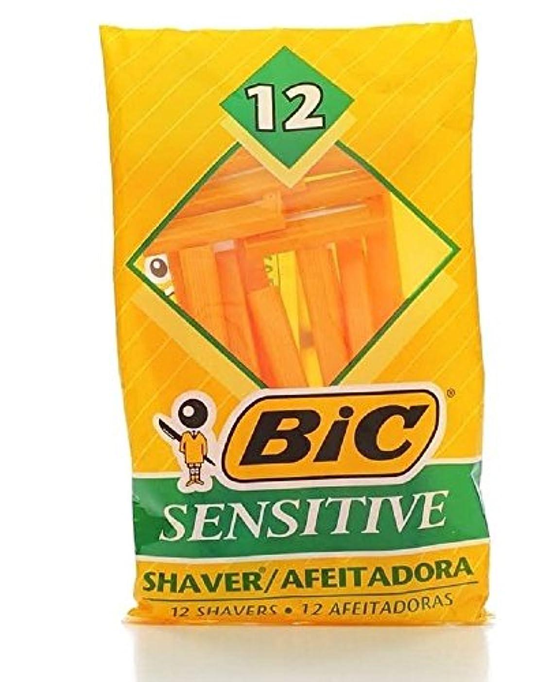 シングルナプキンルーフBic Mens Sensitive Disposable Shaver 12 Count Each (Value Pack of 3) メンズDISP ShvrサンスSop121