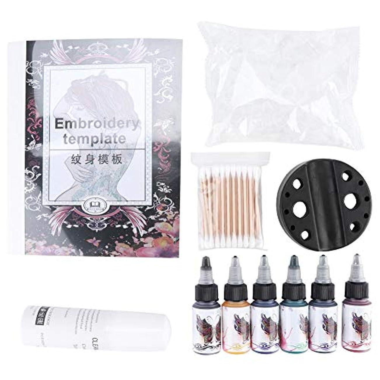 採用するバンド樫の木15ミリリットルタトゥーインクセット、ボディペイントキット、眉永久化粧タトゥーインクセット用ボディアート