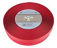 Country Brook Design フックとループに赤い縫製(1インチ) 5 Yards レッド HL-RED-1-5