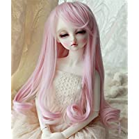 Linfairy 8~9inch 1/3 サイズ ドール用 ウィッグ フィギュア 人形用 ピンク+ ホワイト