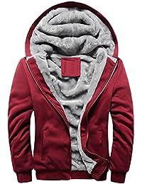 大きなセール。 Daoroka メンズ プラスサイズ フリース 秋冬 暖かいフード付きジャケット コート 長袖 ジッパー セーター ジャケット アウター XXL ブルー Daoroka-555