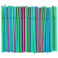IKEA of Sweden Assorted Colors,Pack of 200Piece (1) Soda Drinking Straw,Disposable Flexible Straws,Multicolor [並行輸入品]