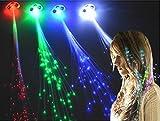 カラオケ・クラブでオシャレに輝く 髪留め式光ファイバーエクステ 『LED-EXTE カラー:レインボー』 コスプレ パーティ 宴会
