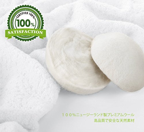 Yeenuo ドライヤーボール 静電気防止 乾燥機用 特大サイズ(7cm) 収納バッグ付き 繰り返し使用が可能 洗濯ボール 6個入り