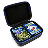 DOUBI Carrying Case for Pokemon Trading Cards – fits up to 400カードなど、1 x取り外し可能な仕切り、1 xカラビナ
