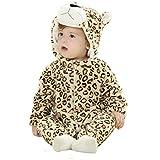 Tonwhar新生児少年少女Leopard動物服装コスチューム