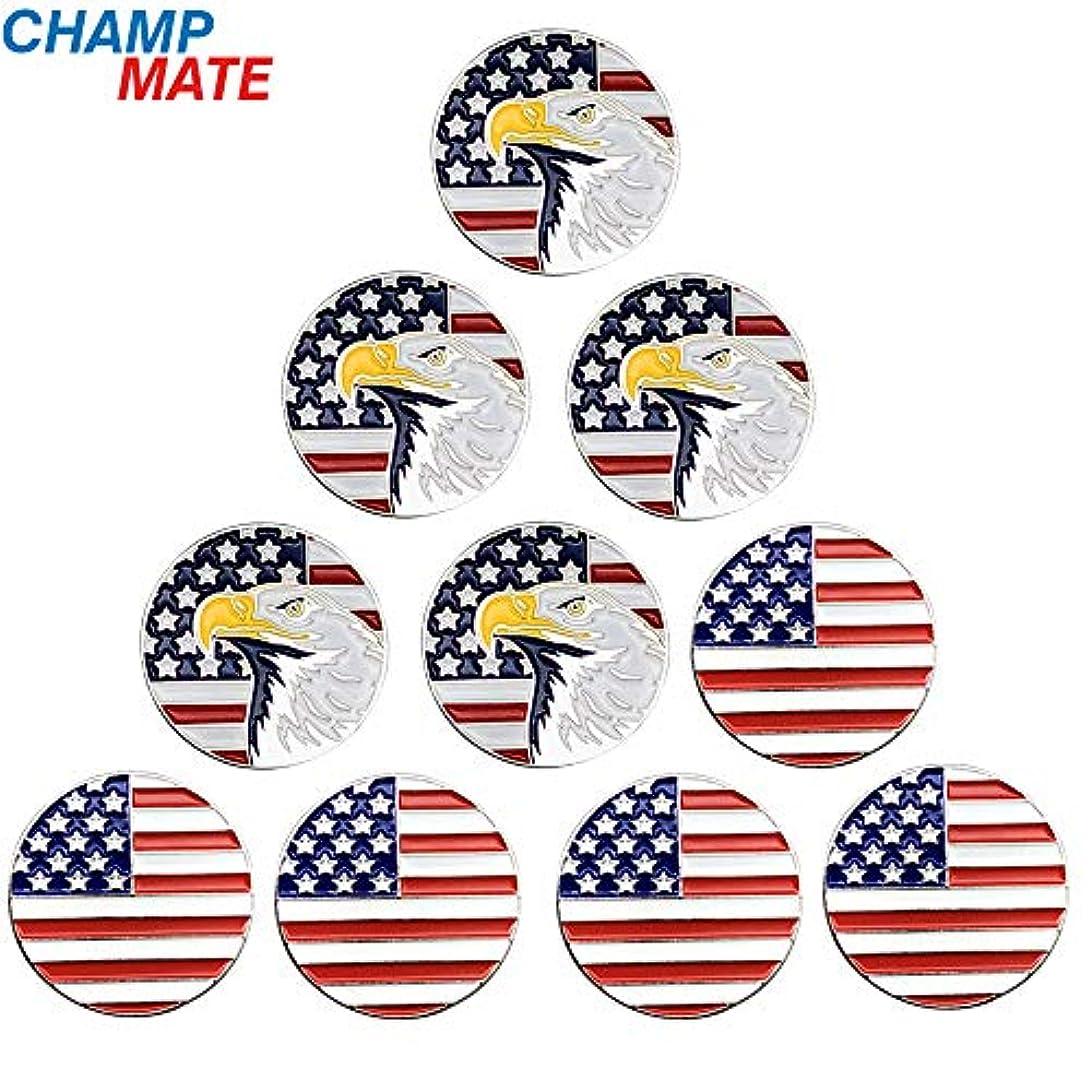 アンドリューハリディ魅力的であることへのアピール取るに足らないChampmate ゴルフボールマーカー USAゴルフコレクションシリーズ アソートデザイン 10個