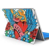 Surface pro6 pro2017 pro4 専用スキンシール サーフェス ノートブック ノートパソコン カバー ケース フィルム ステッカー アクセサリー 保護 ラブリー その他 花 ハート イラスト 003529
