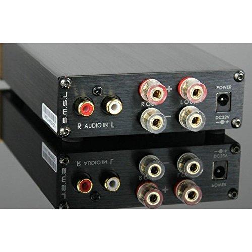 SMSL SA-98E 2 * 160W TDA7498アンプステレオデジタルアンプ+電源アダプタ、トップHIFI (シルバー Silver)