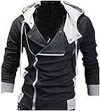 (アルファーフープ)α-HOOP メンズ ジャケット フード 付き ジップアップ 長袖 ロゴ なし ペアルック お揃い 厚い ショート丈 アウター ..