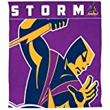 NRL Storm Throw Rug, one Size, Purple/Gold, 1, Piece