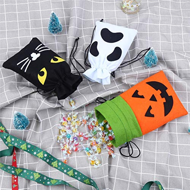 CCINEE 10枚セット ハロウィン ラッピング バッグ キャンディバッグ ギフトバッグ お菓子バッグ かぼちゃ コウモリ 魔女 蜘蛛 髑髏 5種類