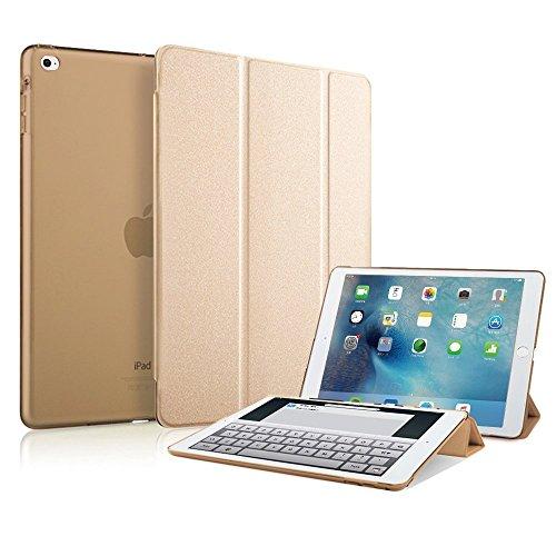 MS factory iPad mini4 スマート カバー バック ケース 一体型 オートスリープ mini 4 スタンド ケースカバー 全10色 ゴールド 金 IPDM4-SMART-GD1
