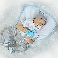 22インチ55 cmハンドメイドSleeping Reborn人形ベビーガールLifelikeソフトSiliconeビニールReborn人形幼児用子成長パートナーXmasギフト