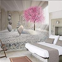 Mingld カスタム任意のサイズの3D壁の壁画の壁紙現代のファッション美しい石、花、天使の壁紙ウォールステッカー-400X280Cm