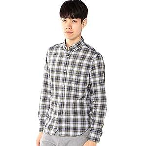 (コーエン) COEN シャーリングチェックボタンダウンシャツ 75106056020 6710 OLIVE(67) XS