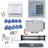 RFID Door Access Control System Kit, AGPtEK Home Security System with 280kg 620LB Electric Magnetic Lock 110-240V AC to 12v D