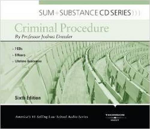 Download Criminal Procedure (Sum and Substance Audio) 0314289453