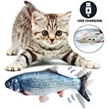 SUVIYA Cat Toy Fish Realistic Flopping Interactive Wiggle Electric Moving Cat Fish Catnip Toy Perfect for Biting, Fun Chewing and Kicking Stimulates Cat Hunting Instinct
