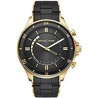 Michael Kors Reid Black Silicone & Stainless Steel Hybrid Smartwatch MKT4017