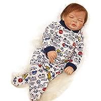 PursueベビーソフトボディLifelike Newborn Baby Boy Doll Milo、22インチRealistic Weighted 3 / 4ビニールベビー人形目閉じた