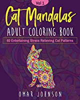 Cat Mandalas Adult Coloring Book Vol 1