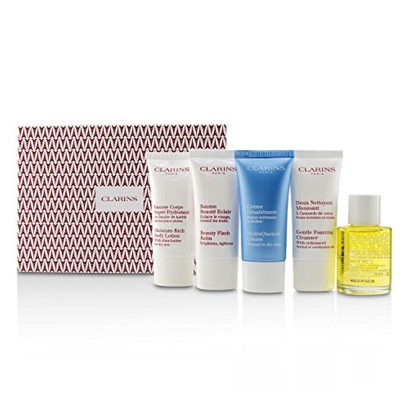 一目登録ベルベットクラランス French Beauty Box: 1x Cleanser 30ml, 1x HydraQuench Cream 30ml, 1x Beauty Flash Balm 30ml, 1x Body Treatment...