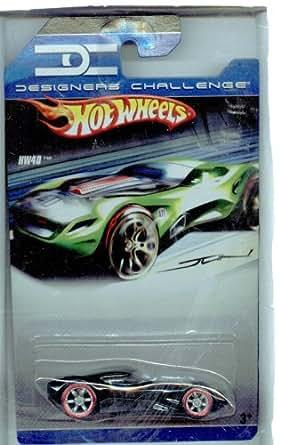 Hot Wheels ホットウィール Designers Challenge HW40 BLACK w/Red-Line Tires 1:64 スケールミニカー モデルカー ダイキャスト 【並行輸入】