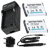 バッテリー( 2- Pack )と充電器for Nikon Coolpix s2700、s2750、s2800、s2900デジタルカメラ