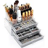 FORSONT ジュエリー&化粧品ボックス 大容量 アクセサリーボックス 小物/化粧品入れ 引き出し式