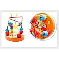 fishinnenクリエイティブクラフトおもちゃ木製教育玩具パズルラウンドビーズ
