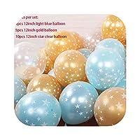 パーティーの装飾ハッピーBollons | クリアスターピンクブルーバルーン内バルーン結婚式の装飾の風船ベビーシャワーの誕生日パーティーホームXN、スタイル6用品12インチ20枚