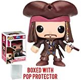 Funko POP 。Disneyシリーズ4 : Pirates of the Caribbean – Captain Jack Sparrow Vinyl Figure (バンドルwith Popボックスプロテクターケース)