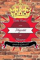 BITTE RUHE! SEINE MAJESTAeT DER MAURER BETRITT DAS GEBAeUDE!!: A5 Notizbuch PUNKTIERT MAeNNER | WERKZEUG | MAUER | MAURER |  BAUSTELLE | HANDWERK | TAGEBUCH | HUMOR | WEIHNACHTSGESCHENK