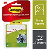 Command Poster Hanging Strips Value-Pack, Small, White, 48-Pairs (17024-48ES)