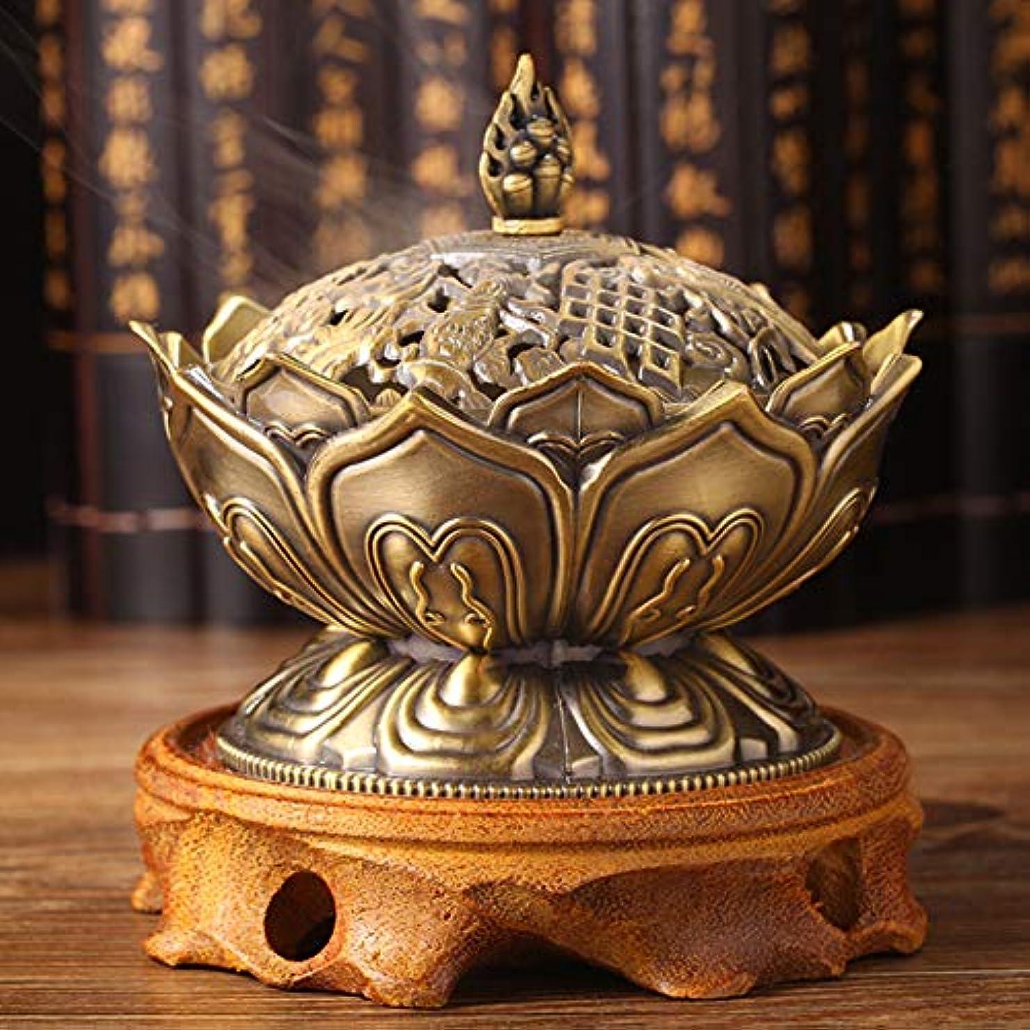 お香バーナークラフトホルダーストーブホーム装飾コレクション圧力解放アロマセラピーミニ合金幸運(ブロンズ)