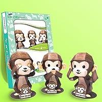 Papertoy - The three wise Monkeys
