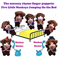 ychoice面白いFinger Puppetsおもちゃ7個Finger Puppets Story Telling Five Little Monkeys Jumping on the bed Perfect子供プレゼント