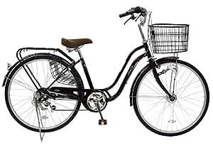 CHACLE(チャクル) 空気入れ不要! ノーパンク自転車 軽快車 26インチ [外装6段変速、S型ループフレーム、LEDオートライト、ローラーブレーキ] ブラウン FN-CC266WS-HD