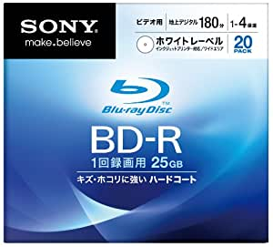 SONY ブルーレイディスク ビデオ用BD-R 追記型 片面1層25GB 4倍速 プリンタブル 20枚P 20BNR1VCPS4