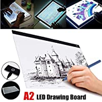 Viet-GT 最高品質 - デジタルタブレット - A2 LEDライトボックス トレーシングボード アーティスト タトゥー ステンシル お絵かきボード パッド テーブル アクリル素材 子供用ギフト用デジタルタブレット - 1個
