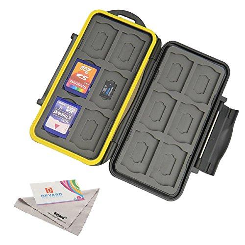 Deyard 防水SDメモリー用カードケース SDカード12枚、microSDカード12枚 24枚収容可能