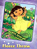 "Dora the Explorer ""Dance with Me"" Fleece Blanket (Measures Approximately 50"" x 60"") [並行輸入品]"