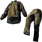 メンズ コート マック レインスーツ オリーブ L 裾上げ調整可能 防水 アジャストマック AS-5100