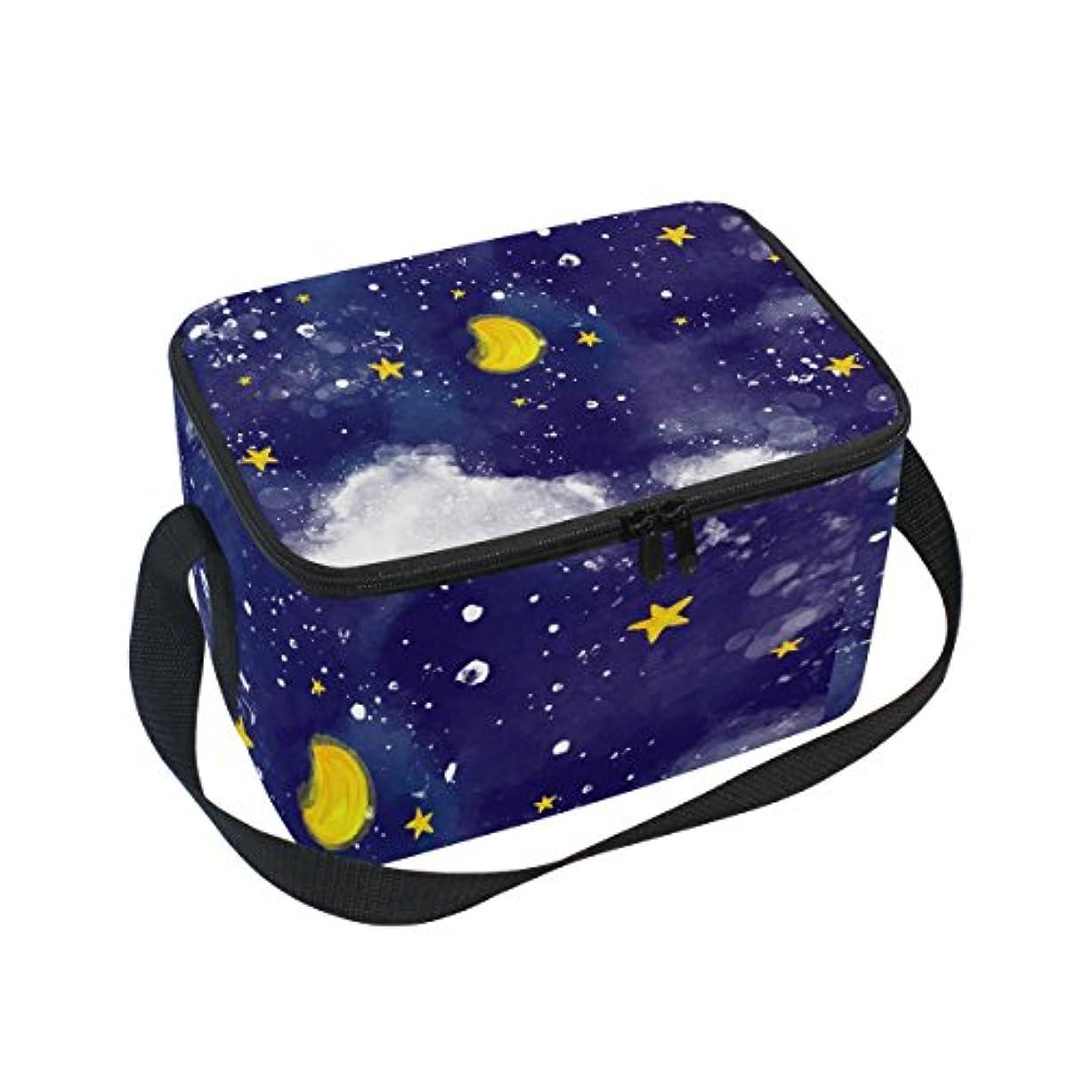 回転させる類推土クーラーバッグ クーラーボックス ソフトクーラ 冷蔵ボックス キャンプ用品 油絵 月と星 保冷保温 大容量 肩掛け お花見 アウトドア