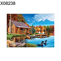 goupgolboll-30×40センチメートル風景ハウスクロスステッチ刺繍diyフルラウンドダイヤモンド絵画 - x08238