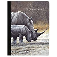 Tree-Free Greetings Rhinoceros Soft Cover 140 Page Recomposition College Ruled Notebook 9.75 x 7.25 (CJ47956) [並行輸入品]
